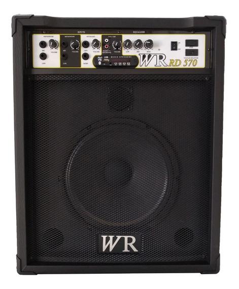 Caixa De Som Amplificada Blue/mic/guitar/teclado 12 Pol 70w