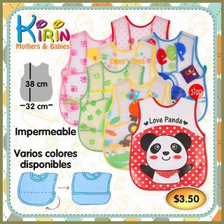 Kirin Babero Impermeable Con Bolsillo Para Bebé Niño