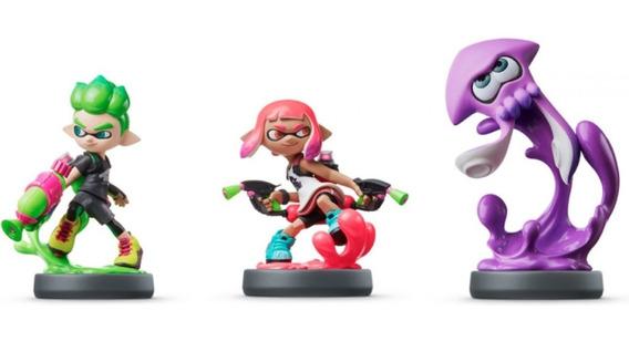 Amiibo Splatoon 2 Inkling Boy Girl Squid Neon Switch New 3ds