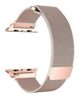 Pulseira Loop Milanese P/ Apple Watch 42mm | 44mm R. Gold