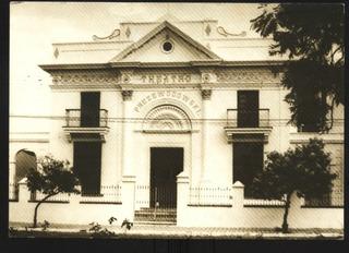 Cartão Postal Antigo Teatro Itaqui Do Rio Grande Do Sul