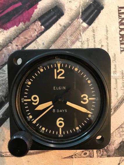 Reloj De Avión Elgin Cuerda Segunda Guerra Mundial Antiguo