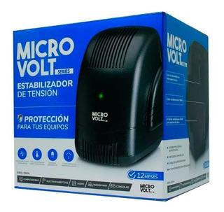 Estabilizador Microvolt Seires - 4 Tomas Para Pc 1200va Pico