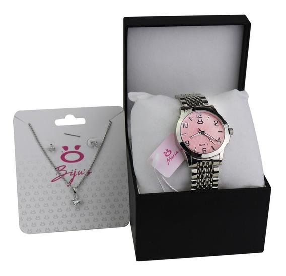 Relógio Feminino Orizom Maria Em Aço Prata