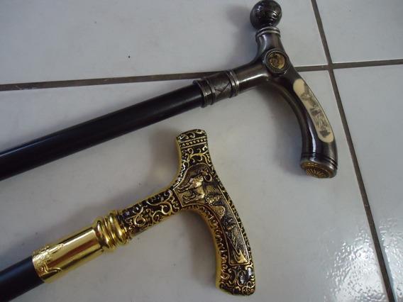 Bengala Com Espada Vip Bode Dourada Ou Aguia Prata