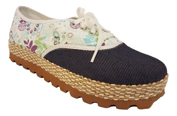 Zapatillas De Mujer Con Yute En Lona Reforzada Y Muy Liviana