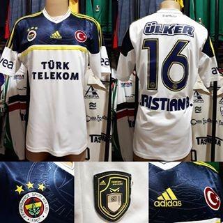 Camisa Fenerbahçe- adidas- G- 2012/13- N°16 Jogo- Away