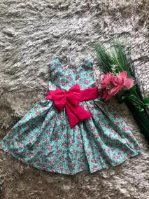 Vestido Princesa Rodado Infantil Laço Promoção 10 A 12 Anos