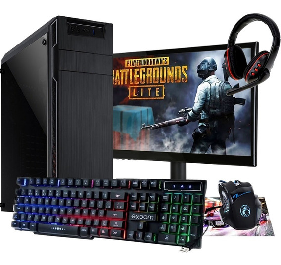 Pc Completo Gamer Monitor 19 Led Hdmi Wifi 8gb + Pubg Lite!