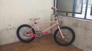 Bicicleta Bmx Rosa Rodado 16 Lista Para Usar ! Para Nenas