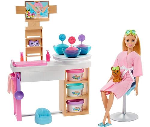 Barbie Mascarilla Facial Spa Day Playset Con Muñeca Barbie