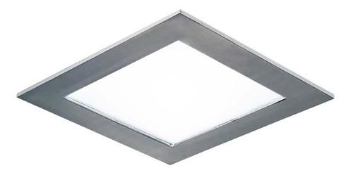 Plafon Embutir Led 18w Acero Cuadrado Panel  Luz Desing