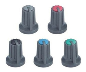 Knob Potenciômetro Eixo Estriado 6mm - Escolha A Cor -10 Pçs