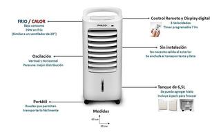 Climatizador De Aire Portatil Frio Calor 6,5lts Philco Envio