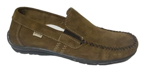 Zapatos Mocasines Nautico Cuero Gamuza Hombre Deblar