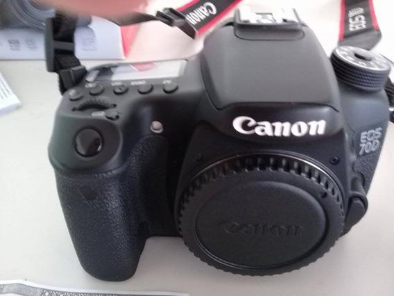 Câmera Canon Eos 70d - Usada Desde 2015 Semi N Somente Corpo