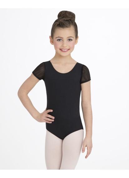Ballet Malla Patin Gimnasia Capezio Niñas Negro