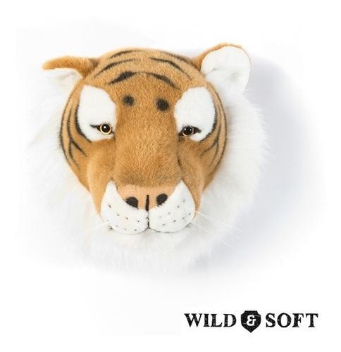 Imagem 1 de 5 de Cabeça De Parede Pelúcia Tigre Felix Wild & Soft