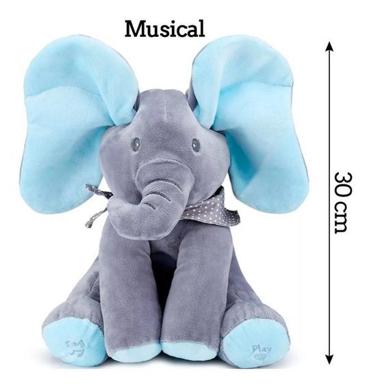 Urso Pelúcia Peek A Boo Musical Canta Mexe Interativo Bebê