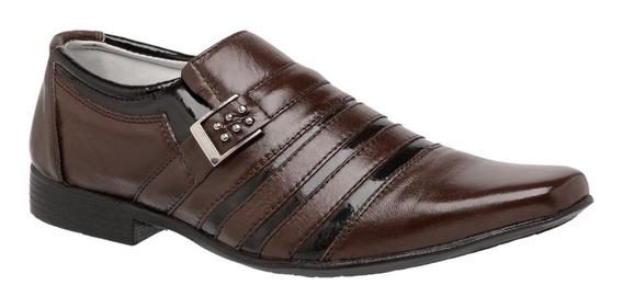 Sapato Social Masculino Couro Legitimo Macio Tchwm Shoes
