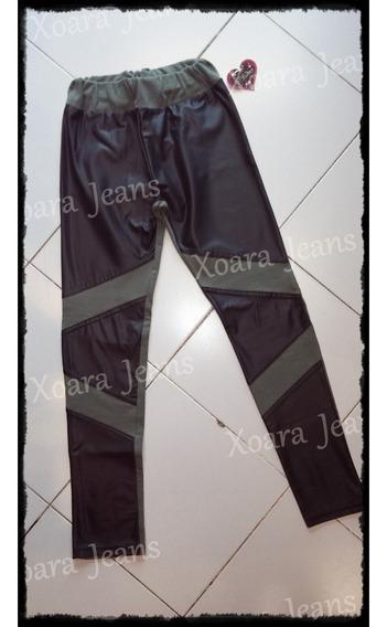 Calzas Tiro Alto Algodón C/ Lycra Engomado - Xoara Jeans