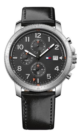 Reloj Tommy Hilfiger Para Hombre Modelo 1791364 Correa Cuero