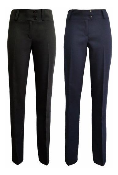 Pantalon Mujer Elastizado Negro O Azul Por Mayor O Menor