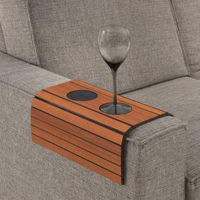 Esteira Para Braço De Sofá Com Porta Copos - Pinhão