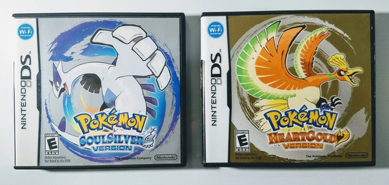Pokemon Heart Gold + Soul Silver - Ds / 3ds - Impecáveis !!!