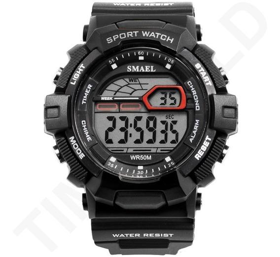 Relógio Smael Militar Digital Esportivo À Prova D