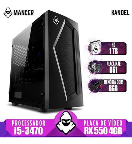 Pc Gamer Mancer, Intel Core I5, Rx 550 4gb, 8gb, Hd 1tb