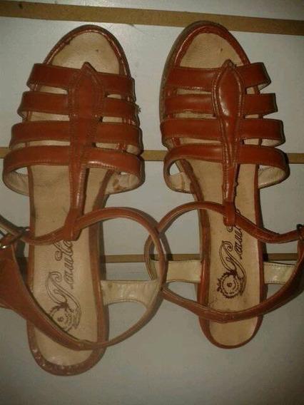 Sandalias Marrones De Mujer