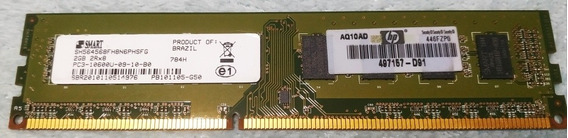 Memoria Desktop Ddr3 2gb Smart 2rx8 10600u Pc3