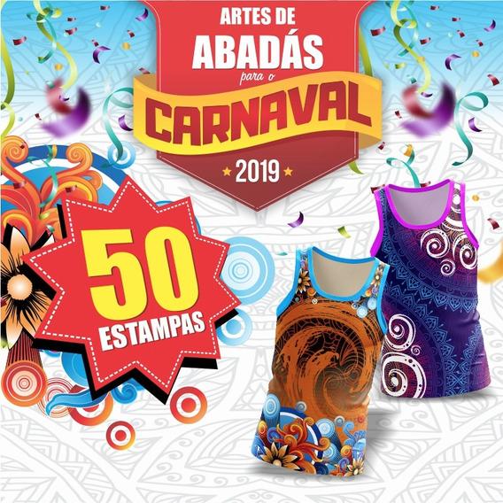 50 Estampas Abadás 2019 + Mockup 3d Camisa Regata