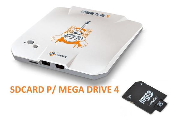 Cartão Sd 2gb P/ Mega Drive 4 Guitar Idol + 4in1 +emulator!