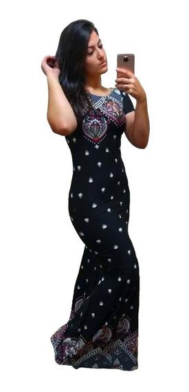 Vestido Longo Sereia Evangélico Estampas Lindas 8033