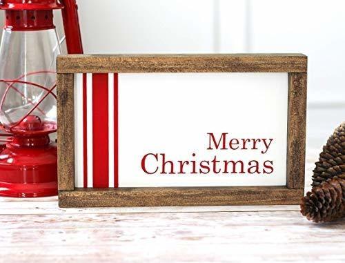 Imagen 1 de 1 de Decoracion De Navidad De La Casa De Campo   Cartel De Feliz