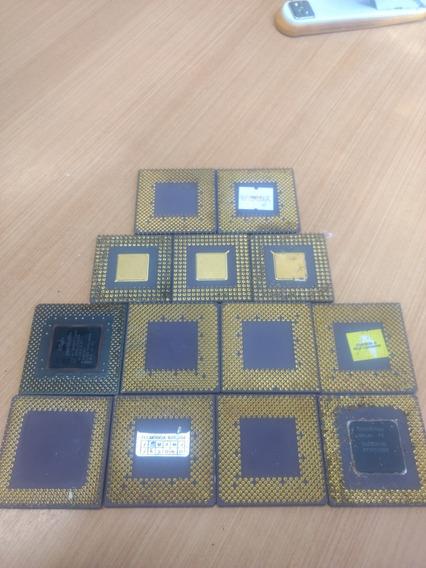Lote De Processadores Cerâmicos E Silício Intel Amd Memória