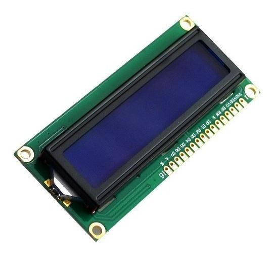 Módulo Display Lcd Fundo Azul C/escrita Branca 16 X 2-cód.01