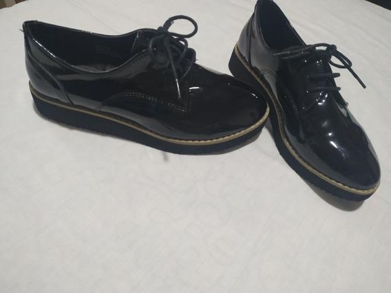 Zapatos Mujer Charol Negro 35
