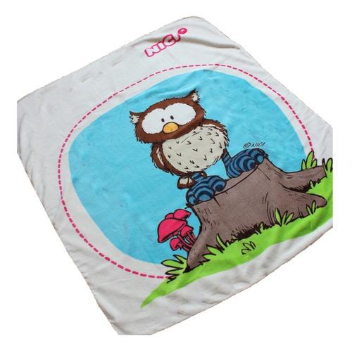Imagen 1 de 4 de Cobertor Ligero Infantil 1.00x1.30 Suave Cálido Oscar Owl