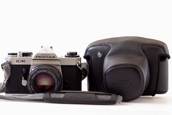 Câmera Pentax Km Com Lente Pentax Smc 50mm 1.4