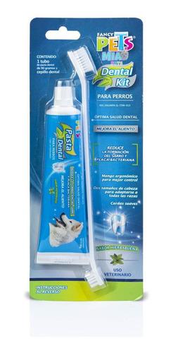 Imagen 1 de 5 de Kit Dental Perros Fancy Pets Cepillo Pasta 90g Antisarro
