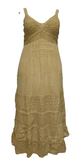Vestido Feminino Longo Indiano Alça Renda Lesi 904