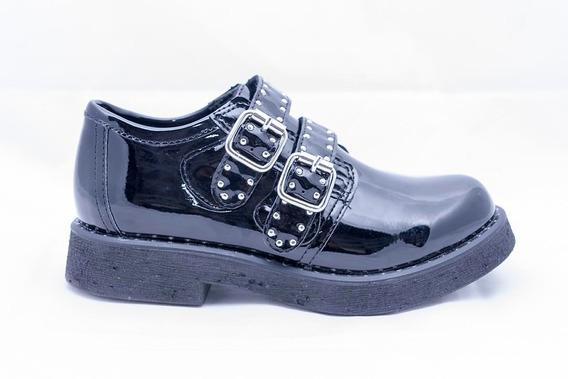 Zapatos Savage Mx-25 Negro-charol