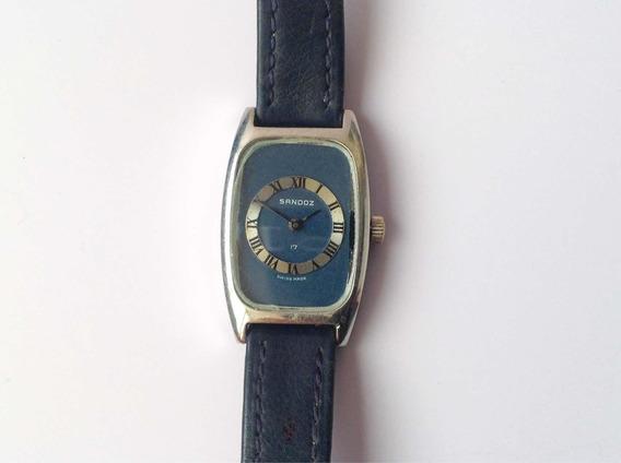 Reloj Sandoz Vintage Original Dama Cuerda 17 Joyas