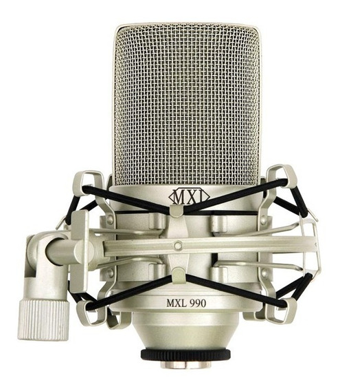 Microfone Condensador Mxl 990 C/ Shockmount - Nf + Gta.