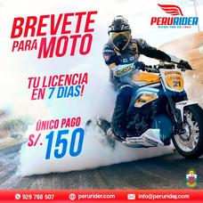 Obten Tu Brevete Licencia De Moto En 7 Dias   Perúrider.com