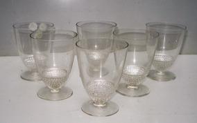 Lalique - Conjunto De 06 Taças Em Cristal - França