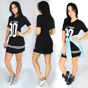 Kit 5 Vestido Camisão Feminino Ny Swag Camisa Longline